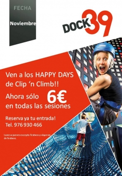 Ven a los Happy Days de Clip `n Climb de DOCK39