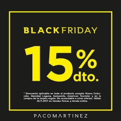 Paco Martínez - 15% descuento en el Black Friday