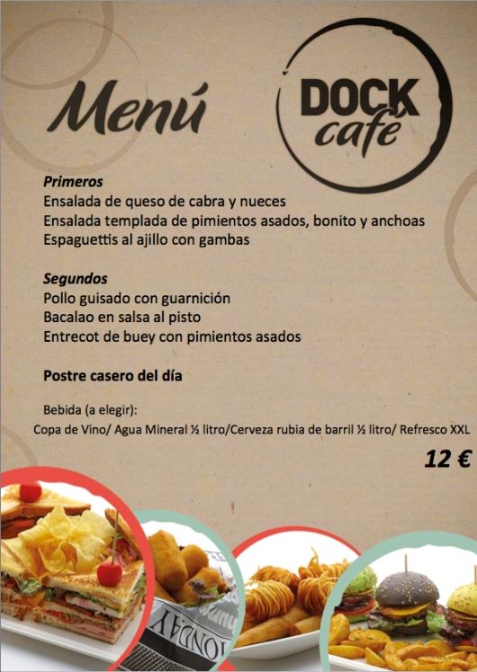 Menú de fin de semana (10 y 11 de mayo) en Dock Café