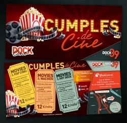 Celebra tu cumpleaños en Dock Cine