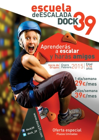 Escuela de escalada en Dock39