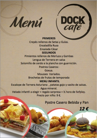 Menú de fin de semana (17 y 18 de mayo) en Dock Café