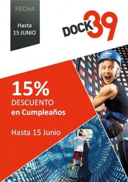 DOCK39: 15% de descuento en cumpleaños - Promo finalizada -