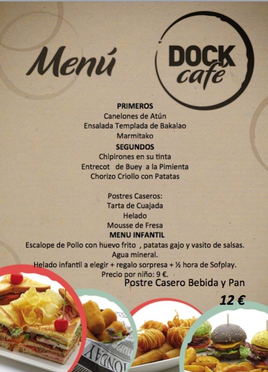 Menú de fin de semana (24 y 25 de mayo) en Dock Café